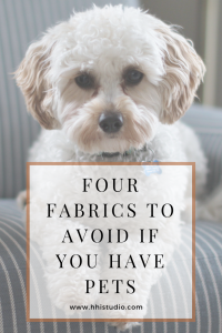 it's time to chat about the worst fabrics for upholstery in pet-friendly spaces and why!