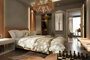 natural and electric lighting elements creating a cohesive space